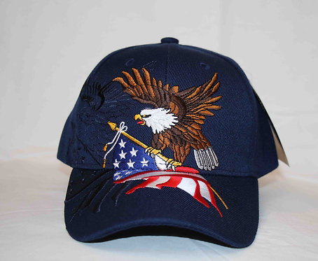 American flag and eagle cap, embroidered front.  Shipping included.