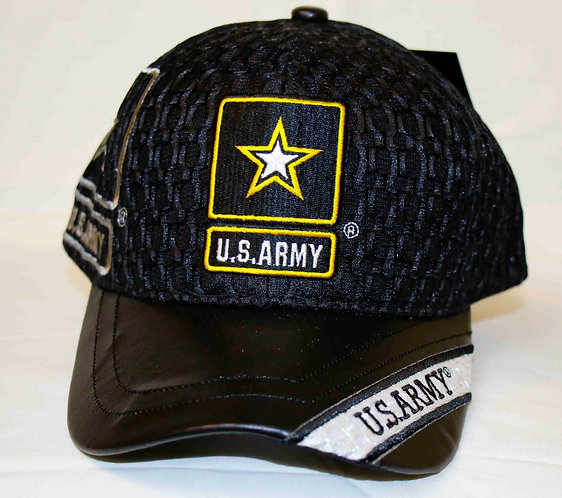 ARMY Star cap, leather brim with official license seal.  Shipping included.