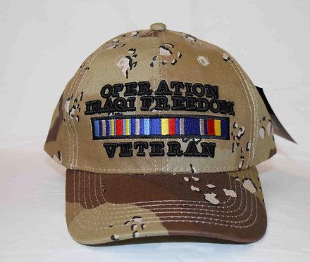 OPERATION IRAQI FREEDOM veteran camo cap. Shipping included in price.
