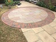Cleaned and re-pointed patio