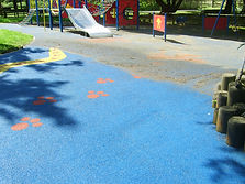 Playground cleaning half way through cleaning
