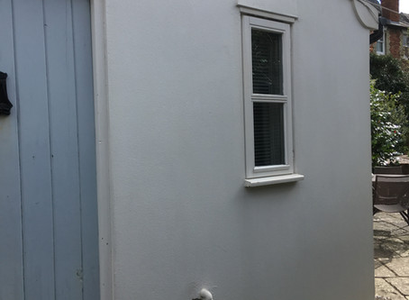 Render Cleaning In Cambridge After Treating Green Algae Growth
