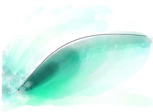left handed wave - digital watercolour