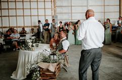 Farm wedding sweetheart table