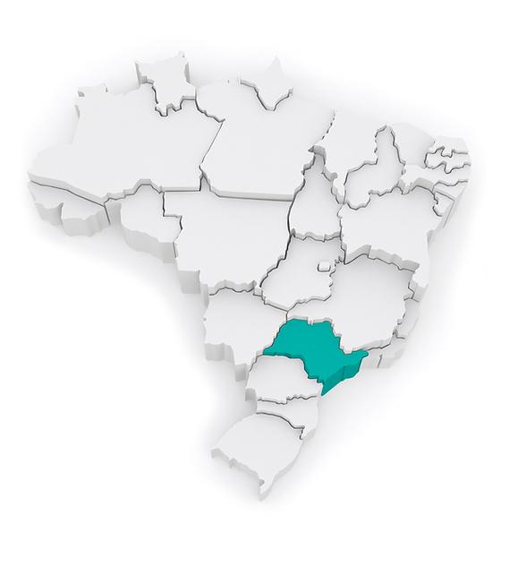 Mapa regiões de distribuição