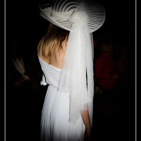 Sunhat from recycled shirt and curtain