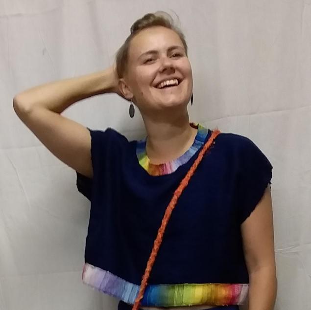 Cathy Tobin SAORI woven top and pants