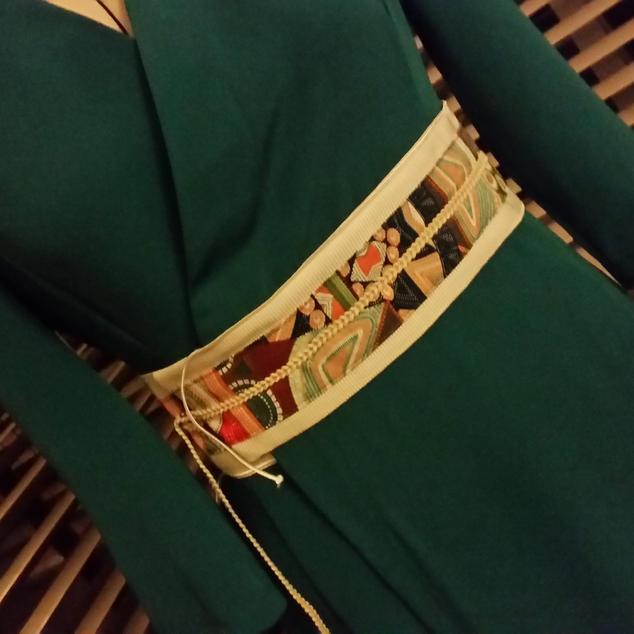 Green Wrap dress designed by Kaye Daniels