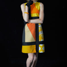 Dress from recycled upholstery samples