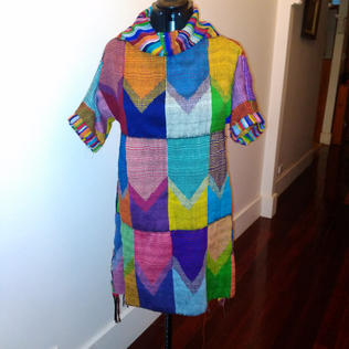 Cathy Tobin Rainbow dress designed by Cathy Tobin