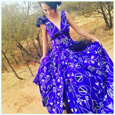 Blue Dress Designed by Carmel Ryan
