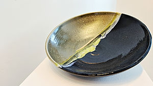 Blue and Green Shallow Dish (Large)