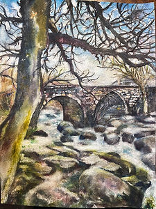 Clapper Bridge, Dartmoor.