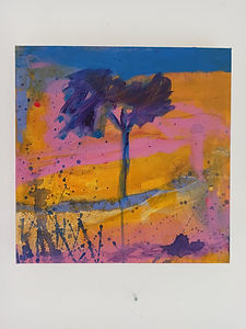 Tree with Ochre and Pink