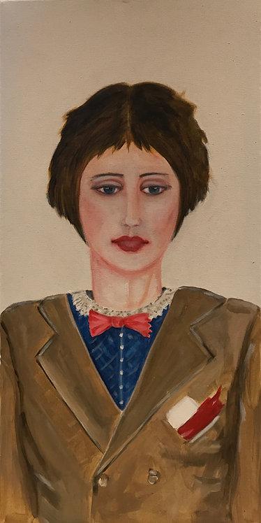 Golden Years Jo (Little Women) Wearing a David Bowie Jacket