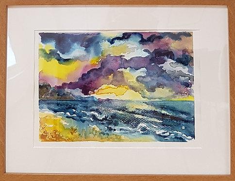 Charmouth Beach with Indigo Sky