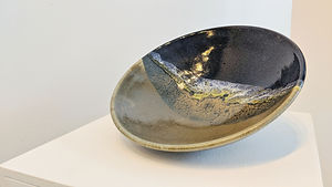 Blue and Green Shallow Dish (Medium)