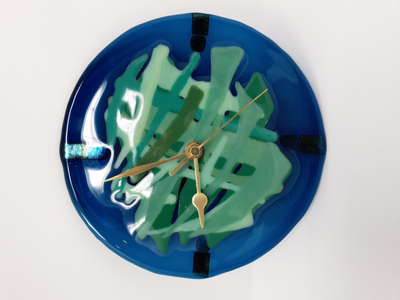 Blue/Green Glass Clock