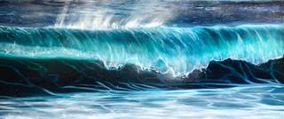 Teal Wave Breaking