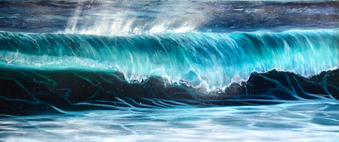 Teal Wave Breaking