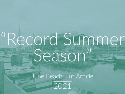 """Record Summer Season"" - June Beach Hut Article"