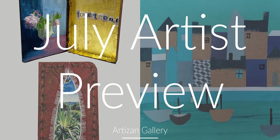 "Artist Preview - ""Gossamer Threads"" and ""Coastal Villages"""