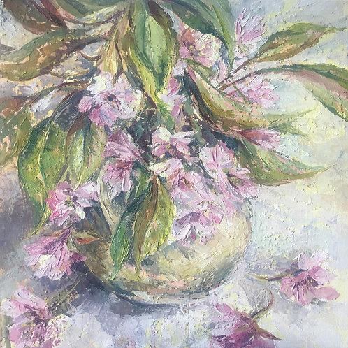 Vase of Cherry Blossom
