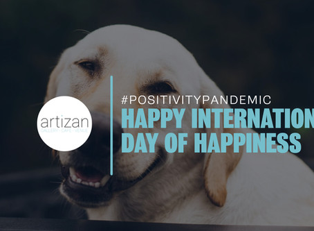 Happy International Day of Happiness – Let's start a #PositvityPandemic