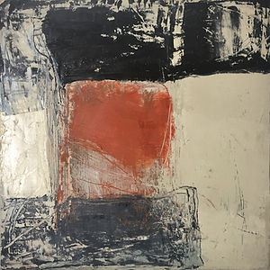 Small Red/Black Abstract #2