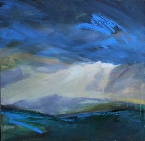 Brentor in Stormy Light