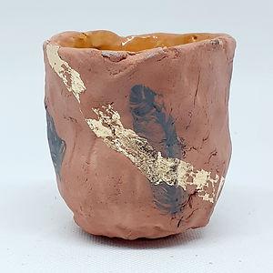 Kurinuki Tea Bowl - Feather