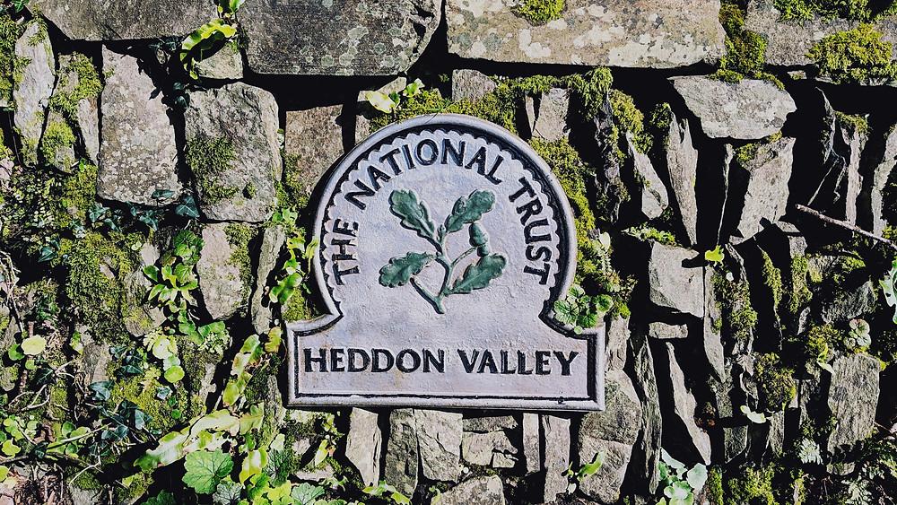 Heddon Valley National Trust Sign