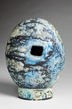 Blue Ovoid and Plinth