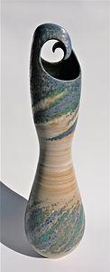 Tall Wave Vase