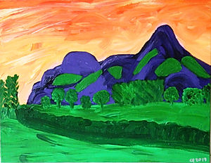 Breidden Hills From Welshpool
