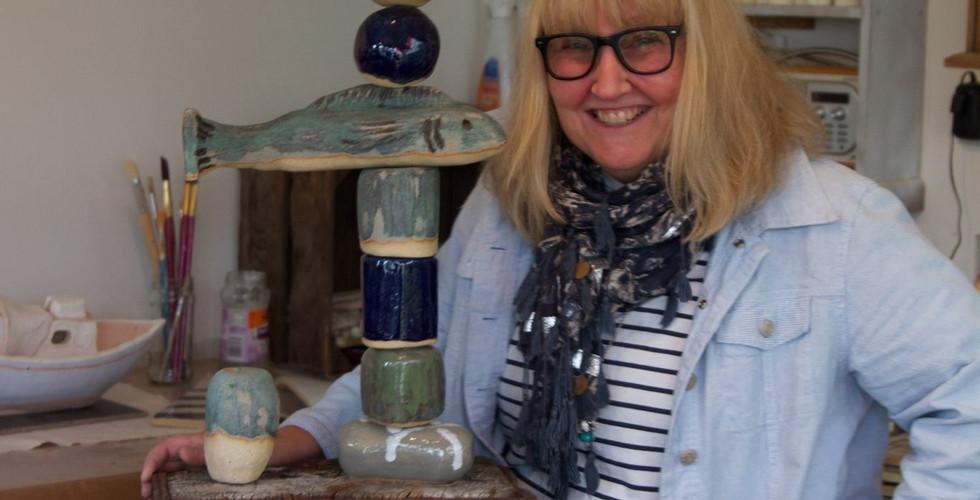 Lee Pover in her studio