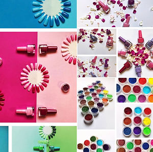 Glitter, Colour Wheel and Petals