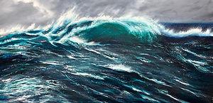 Stormy Emerald Sea