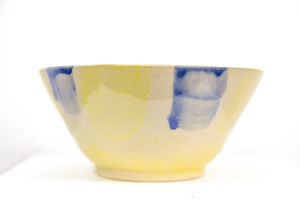 Large Bowl - Yellow and Blue