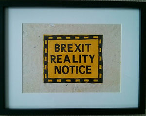 Brexit Reality Notice