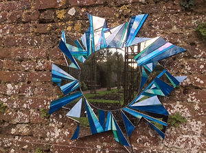 Large Blue Star Mirror