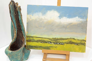 Devon Pastures - Oil Painting Study