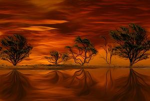 Orange Sunset II