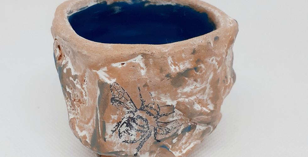 Kurinuki Tea Bowl - Bee