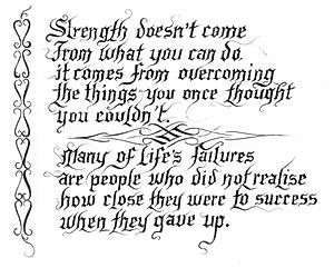Strength Failures