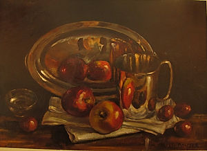 Still Life With Silver Beaker And Conkers