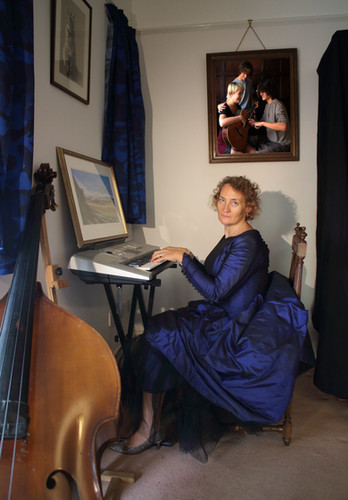 Sophie at the Keyboards (after Johannes Vermeer)