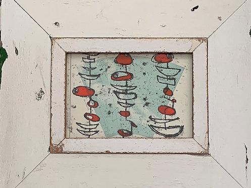 Red Buoys, Boats and the Stars I