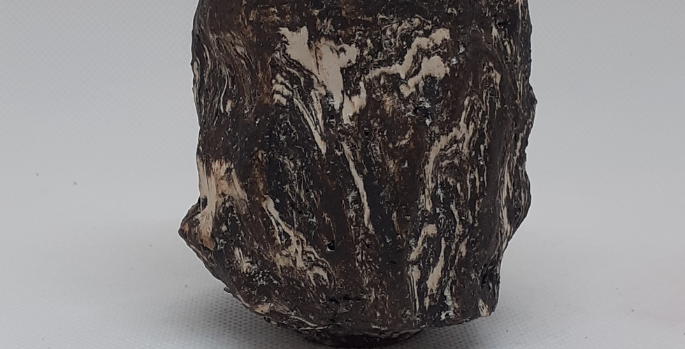 Kurinuki Tea Bowl - Monochrome
