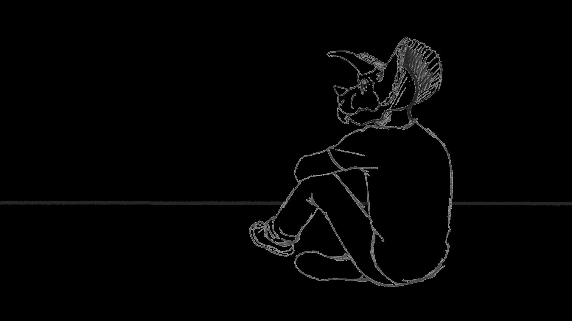 Tricera-dude Sketch